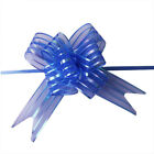 50X 50mm Large Organza Ribbon Pull Bows Wedding Party Gift Wrap Decoration J