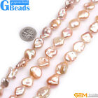 """Natural Baroque Large Nuclear Edison Pearl Beads For Jewelry Making Strand 15""""GB"""