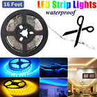 5M/16ft Amber Yellow 5050 SMD 300 LED Strip Light Flexible IP67 Waterproof 12V