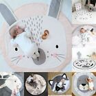 Baby Soft Cotton Mat Kids Game Gym Activity Play Crawling Blanket Cute Floor Rug