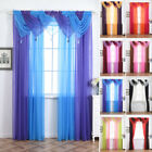 long door curtain - New Colorful Tulle Voile Door Window Curtain Drape Panel Sheer Scarf Valances