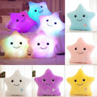 Home Colorful Stuffed Dolls LED Glowing Star Plush Pillows Light Cushion 5 Color