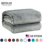 Bedsure Luxury Flannel Fleece Blanket Plush Blanket Throw Bed Blanket Microfiber image