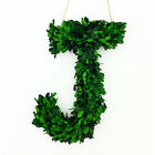 "12"" REAL PRESERVED BOXWOOD DECORATIVE MONOGRAM LETTERS - FRONT DOOR WREATH DECOR"