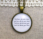 Love Will Not Break Your Heart but Dismiss Your Fears Pendant Necklace (custom)