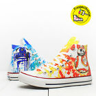 Star Wars Droids Converse Custom All Star BB-8 & R2-D2 printed shoes All sizes $90.0 USD