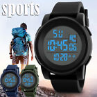 Men Watch Analog LED Digital Date Alarm Waterproof Sport Army Quartz Wrist Watch image