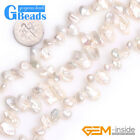"""Assort Freshwater Pearl Beads for Jewelry Making Gemstone 15"""" DIY Wholesale"""