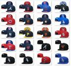 New Embroidered MLB Team Baseball Cap Flat Brim Sun Hat Outdoor Sports Unisex on Ebay