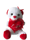 White Love you Valentine's Day gift Teddy Bear Soft Plush 9'' and 12''