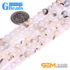 Natural Round Smooth Botswana Agate Gemstone Beads Jewelry Making Strand 15""