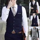 Fashion Mens Formal Business Casual Dress Vest Suit Slim Tuxedo Waistcoat Jacket