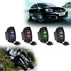Waterproof Car Motorcycle 12-24V 3.1A Dual USB Power Adapter with LED Indicator