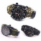 Military Paracord Survival Sport Swimming Wrist Watch Tactical Bracelet Outdoor image