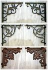 New 2 x Antique Vintage Victorian Style Cast Iron Wall Shelf Brackets Support UK