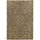 Beige Swirls Curves Curls Traditional-Persian/Oriental Area Rug All-Over 2162J