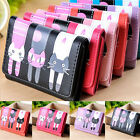 New Women Girl Leather Long Wallet Clutch Card Holder Handbag Coin Bag Cat Purse