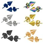 New Unisex Cone Spike Earring Studs Ear One Pair Choose Colour & Size