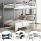 Kyпить Metal Bunk Beds Frame Twin Over Twin Size Ladder Kid Teen Adults Split 2 Beds на еВаy.соm