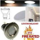 FIRE RATED BRUSHED CHROME IP20 Fixed Downlights & Led Bulb 5 W white / warmwhite