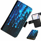 STA02 BLUE STARS PRINTED LEATHER WALLET/FLIP CASE COVER FOR MOBILE PHONE