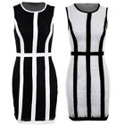 Ladies Floral Lace Panel Lined Zip Back Sleeveless Bodycon Mini Smart Dress