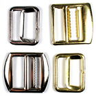 Metal Waistcoat Vest Buckle Slider Fastener - Gold or Silver Colour Choice