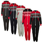 Womens Unisex Mens Ladies Chin guard Aztec Print Zip Up All In One Jumpsuit S M