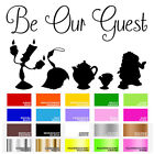 Be Our Guest Vinyl Decal Sticker for Home Door Stair Windows Wall Car Decor Art
