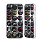 OFFICIAL AC/DC ACDC BUTTON PINS SILVER SLIDER CASE FOR APPLE iPHONE PHONES
