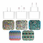 ANGELO CERANTOLA PATTERNS WHITE UK CHARGER MICRO-USB CABLE FOR BLACKBERRY PHONES