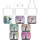 MARC ALLANTE SILHOUETTES WHITE US CHARGER & MICRO-USB CABLE FOR HTC PHONES 1