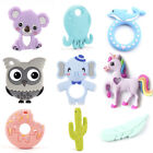 Silicone Elephant Unicorn Octopus Teether Teething DIY Baby Chewelry Sensory Toy