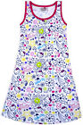 Girls New Hello Kitty Dress Kids Party A-line Cotton Pink White Age 4 - 10 Years