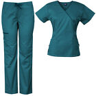 Medgear Women's Stretch Scrubs Set 5-Pocket Top & Multi-Pocket Pants 7896ST