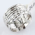 A1-R180 Fashion No Stone Band Ring 18KGP Size 5.5-8
