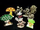 Vintage Metal Pierced Earring holder Retro styles and Characters 60's -80's Era