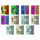 HEAD CASE DESIGNS PATTERNED SILHOUETTE LEATHER BOOK CASE FOR MOTOROLA PHONES