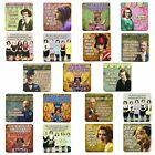 Retro Humour single coaster. Choose from 19 designs. Mug Coffee Tea Wine Gift