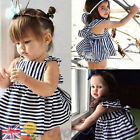 Infant Baby Girls Dress Outfit Clothing Summer Sunsuit Backless Dress Briefs Set