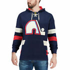 CCM Quebec Nordiques Navy Jersey Pullover Hoodie