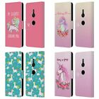 HEAD CASE DESIGNS SASSY UNICORNS LEATHER BOOK WALLET CASE FOR SONY PHONES 1