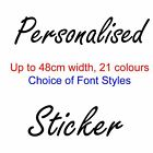 Large Personalised Vinyl Sticker 48cm Shop Car Window Wall Sign 21 Colours Decal