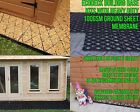 GARDEN SHED BASE KIT +HEAVY DUTY MEMBRANE SHEET ECO SLAB GREENHOUSE BASE GRID em