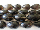 Smoky Quartz Faceted Straight Drilled Tear Drop Briolettes 20mm to 25mm GDS170