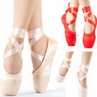 Внешний вид - 2 Color Women Ballet Dance Toe shoes Professional Ladies Satin Pointe Shoes Silk