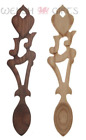H71 - Welsh Wooden Lovespoon with Heart, Music Note & Harp - Can be Engraved