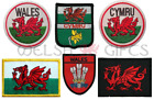 Welsh Embroidered Badge / Patch - Welsh Flag, Dragon, Feathers, Cymru, Wales