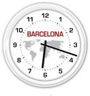 SILENT CUSTOM WALL CLOCK World Globe Time Zone office business home YOUR CHOICE