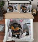 3D Lovely Dog Painting 54 Bed Pillowcases Quilt Duvet Cover Set Single Queen US